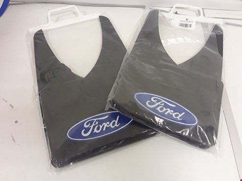 Lot 77 TWO BAGGED PAIRS OF FORD BLACK RUBBER MUDFLAPS