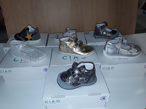 Lot 12807 LOT OF APPROXIMATELY 34 ASSORTED PAIRS OF CIAO BIMBI CHILDRENS SHOES