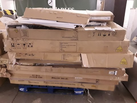 Lot 2014 PALLET OF ASSORTED FLAT PACK FURNITURE TO INCLUDE BED PARTS, WARDROBE PARTS ETC