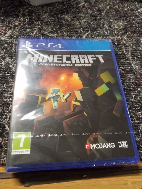 Lot 7335 MINECRAFT PLAYSTATION 4 GAME RRP £60