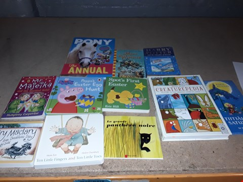 Lot 18 LOT OF APPROXIMATELY 11 ASSORTED CHILDRENS BOOKS TO INCLUDE HARRY POTTER AND THE CHAMBER OF SECRETS, CREATUREPEDIA, SPOTS FIRST EASTER AND PONY THE ANUAL ECT