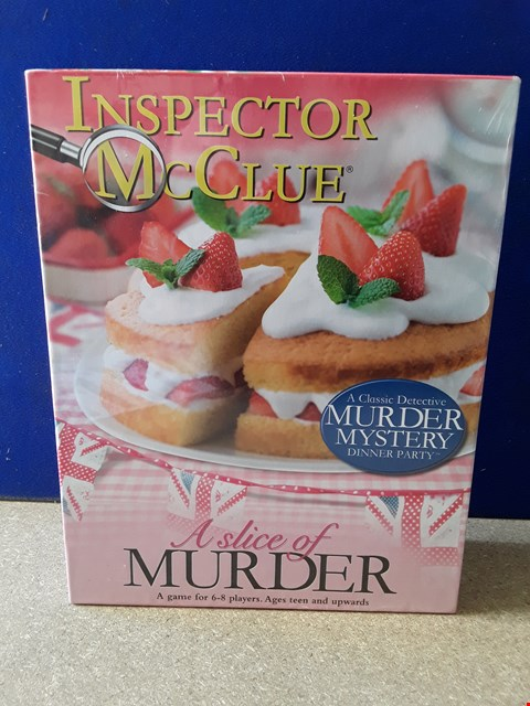 Lot 5091 CELLOPHANE-WRAPPED INSPECTOR MCCLUE A SLICE OF MURDER GAME