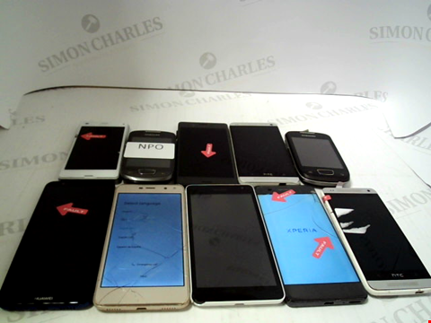 Lot 669 LOT OF APPROXIMATLEY 10 ASSORTED MOBILE PHONES AND SMARTPHONES ETC