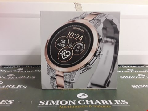 Lot 2346 MICHAEL KORS ACCESS FULL DISPLAY AND ROSE GOLD DETAIL DIAL TWO TONE STAINLESS STEEL BRACELET SMART WATCH RRP £389.00