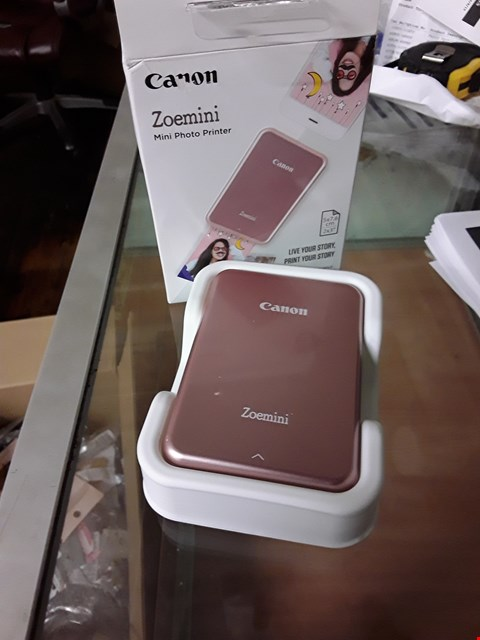 Lot 3016 CANON ZOEMINI SLIM BODY ROSE GOLD PHOTO PRINTER RRP £174.99