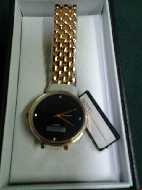 Lot 1074 BRAND NEW BOXED BARKERS OF KENSINGTON LADIES BLACK REGATTA WRISTWATCH RRP £315