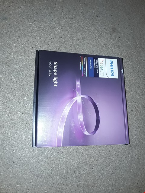 Lot 1648 PHILIPS HUE WHITE AND COLOUR AMBIENCE LIGHTSTRIP PLUS