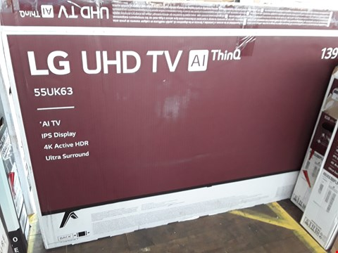 "Lot 1064 LG 55"" UHD THINQ 4K ACTIVE HDR TELEVISION MODEL 55UK6300PLB"
