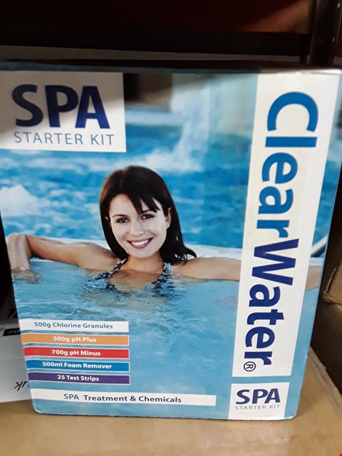 Lot 3271 BRAND NEW CLEARWATER SPA STARTER KIT  RRP £42.99