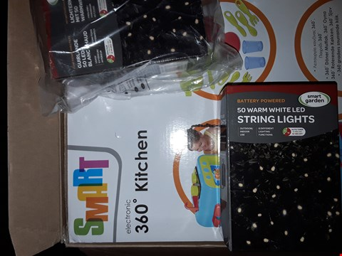Lot 308 LOT OE ITEMS TO 4 ITEMS TO INCLUDE SMART 360 KITCHEN, FROSTED CORNER WREATH,  BATTERY STRING 50 LED STRING LIGHTS LIGHTS (2)