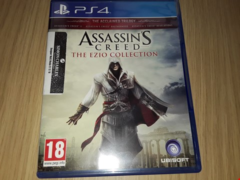 Lot 12 SONY PS4 ASSASSINS CREED THE EZIO COLLECTION GAME