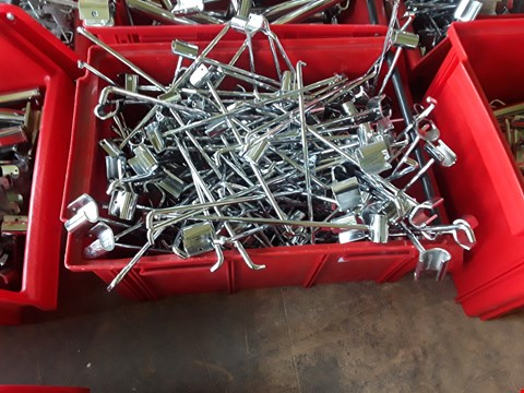 Lot 2032 BOX OF METAL RAILING FITTINGS