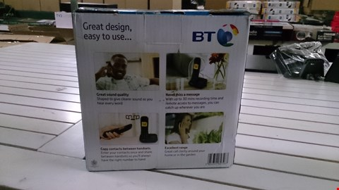 Lot 1413 BOXED BT 1600 TWIN CORDLESS HOME PHONE  RRP £60.00