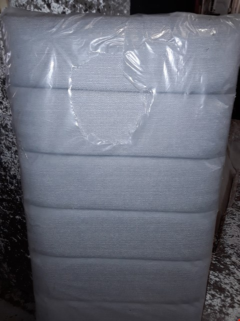 Lot 3066 QUALITY BAGGED GREY FABRIC SMALL DOUBLE HEADBOARD