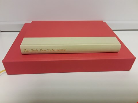 Lot 6503 KATE BUSH HOW TO BE INVISIBLE LYRIC BOOK IN CASE