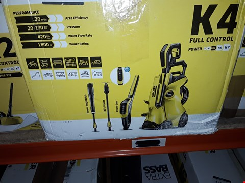 Lot 12537 KARCHER K4 FULL CONTROL HIGH PRESSURE WASHER