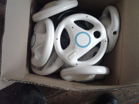Lot 4852 BOX OF ASSORTED WII WHEELS