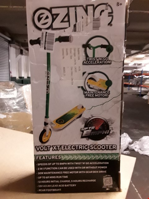 Lot 528 ZINC VOLT XT ELECTRIC SCOOTER  RRP £111.74