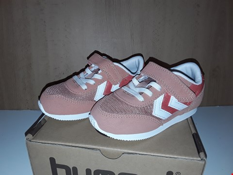 Lot 12790 BOXED HUMMEL REFLEX INFANT PINK VELCRO TRAINERS UK SIZE 7 JUNIOR