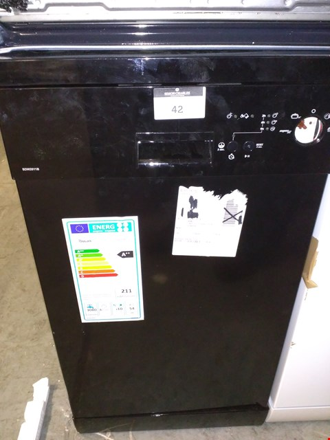 Lot 42 SWAN SDW2011B 10-PLACE SLIMLINE DISHWASHER - BLACK