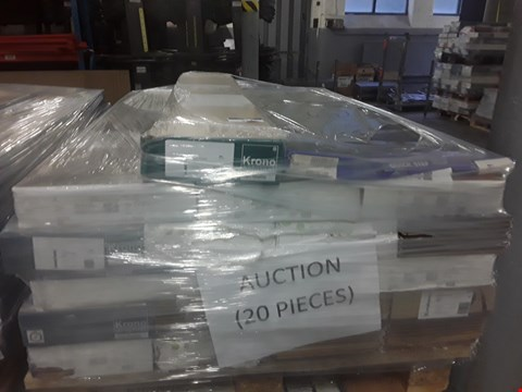 Lot 913 PALLET OF APPROXIMATELY 20 PACKS OF ASSORTED LAMINATE FLOORING