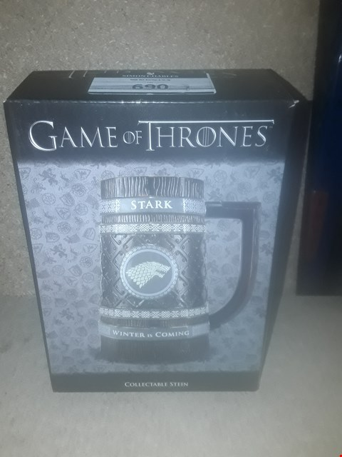 Lot 690 BOXED BRAND NEW GAME OF THRONES COLLECTABLE STEIN