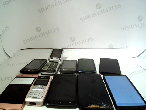Lot 663 LOT OF APPROXIMATLEY 10 ASSORTED MOBILE PHONES AND SMARTPHONES ETC