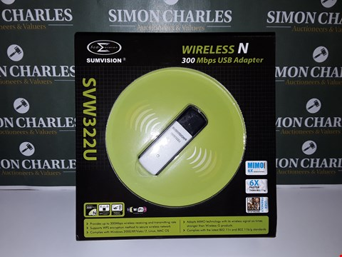 Lot 13 BOXED SUMVISION WIRELESS N 300MBS USB ADAPTER