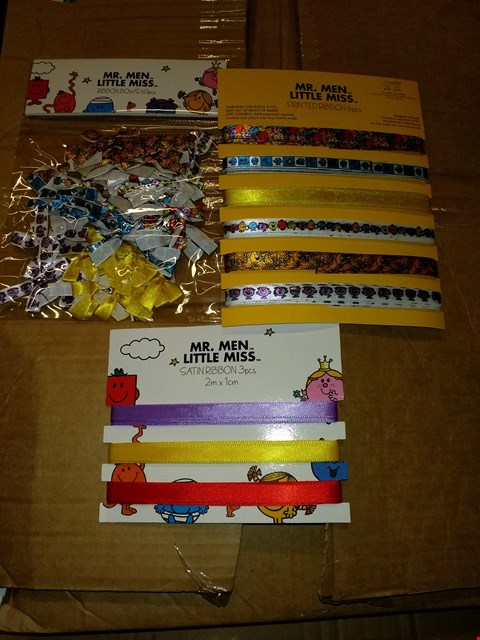 Lot 625 BOX OF APPROXIMATELY 20 MR MEN & LITTLE MISS RIBBON ASSORTMENTS