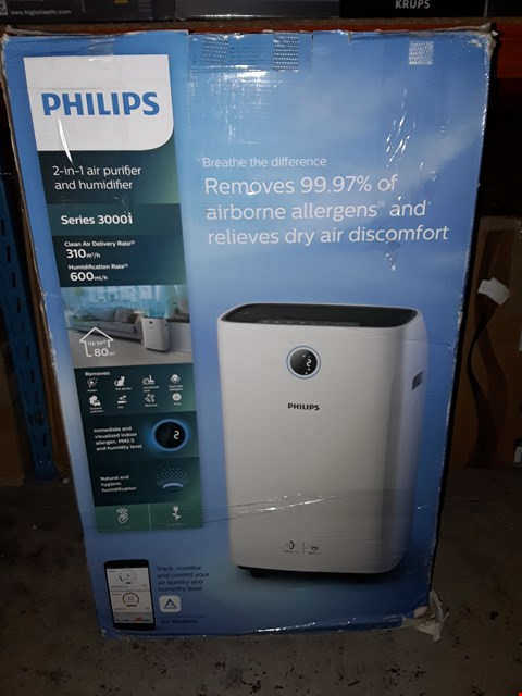 Lot 1119 PHILIPS 2-IN-1 AIR PURIFIER AND HUMIDIFIER SERIES 3000I