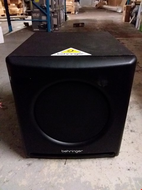 "Lot 4680 BEHRINGER NEKKST K10S AUDIOPHILE 10"" STUDIO SUBWOOFER WITH HIGH EXCURSION WOOFER"
