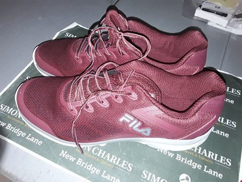 Lot 9009 FILA FOOTWEAR IN RED UK SIZE 10