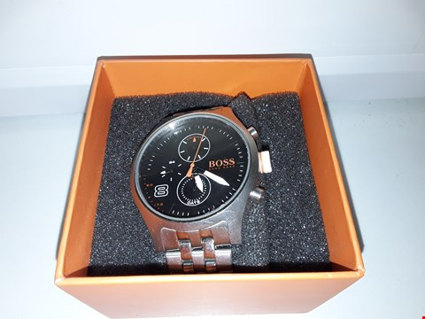 Lot 2136 HUGO BOSS AMSTERDAM BLACK MULTI DIAL STAINLESS STEEL WRISTWATCH  RRP £239.00
