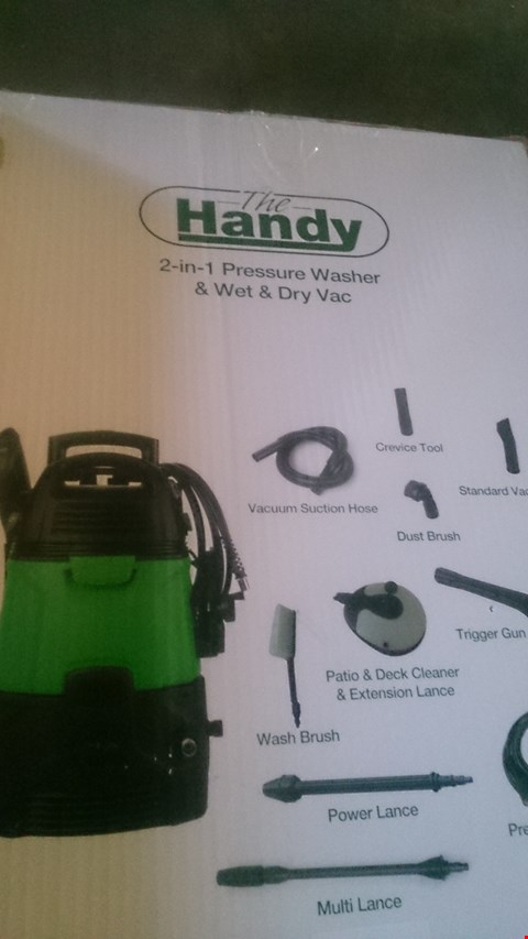 Lot 1112 THE HANDY 2 IN 1 PRESSURE WASHER AND WET DRY VAC