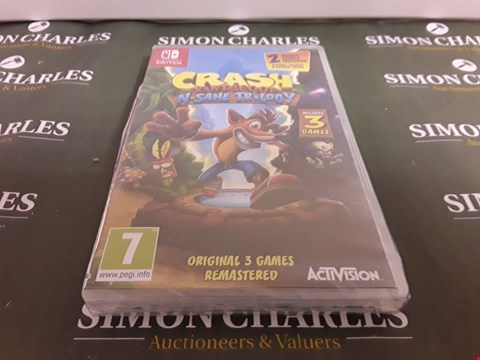 Lot 1294 CRASH BANDICOOT TRILOGY NINTENDO SWITCH RRP £40.00