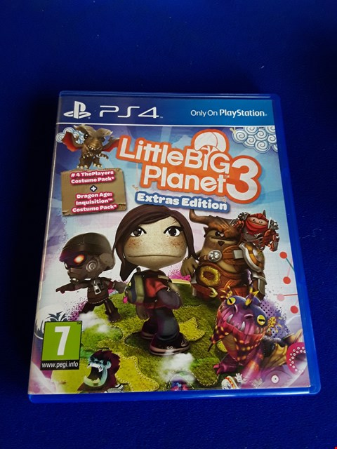 Lot 7657 LITTLE BIG PLANET 3 PLAYSTATION 4 GAME