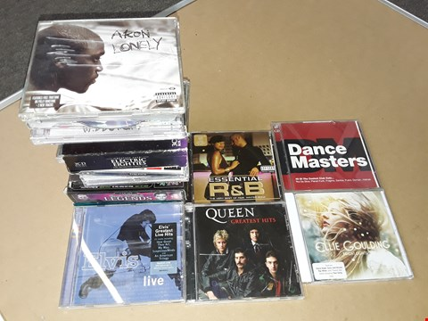 Lot 72 LOT OF APPROXIMATELY 15 ASSORTED MUSIC CDS TO INCLUDE QUEEN, ELVIS AND COMPILATION