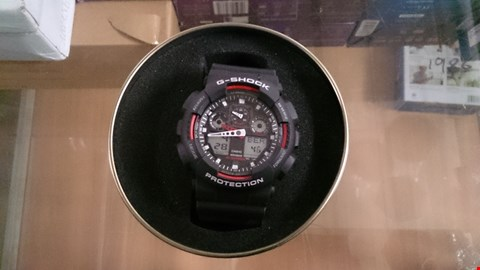 Lot 1494 BOXED CASIO G SHOCK BLACK WITH RED DETAILS MENS RRP £154.00