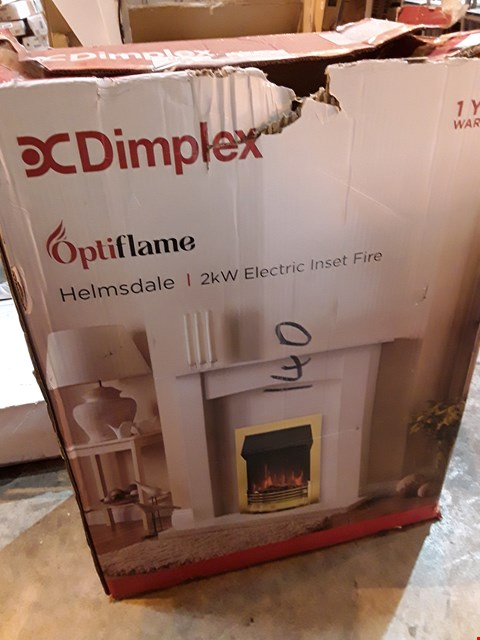 Lot 9091 BOXED DIMPLEX HELMSDALE 2kw ELECTRIC INSET FIRE