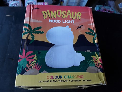 Lot 2313 LOT OF 3 ASSORTED GRADE 1 ITEMS TO INCLUDE SMALL DINOSAUR MOOD LIGHT, PERSONALISED CHRISTMAS SWEETIE STOCKING AND SET OF 3 PASTEL ANGELS TREE DECORATIONS  RRP £69.98