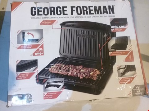 Lot 2775 GEORGE FOREMAN 25820 LARGE FIT GRILL