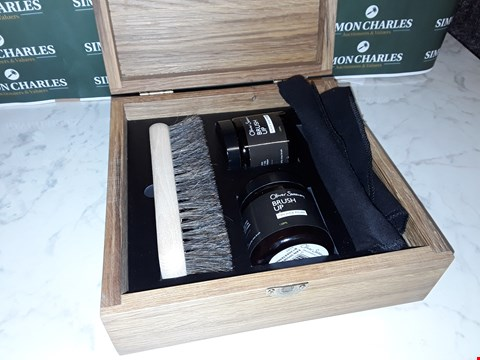Lot 12044 OLIVER SWEENEY STYLE SHOE CARE KIT IN WOODEN BOX