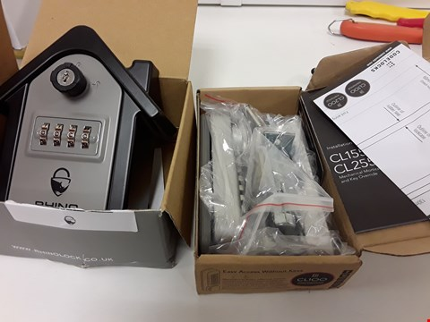 Lot 422 TWO BOXED SECURITY ITEMS, RHINO OUTSIDE KEY SAFE & CL100 RASY ACCESS CODE DOOR LOCK