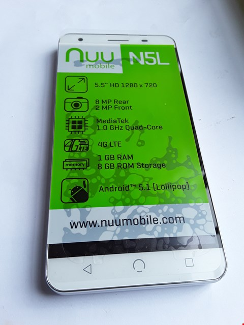 Lot 26 NUU N5L ANDROID 4G SMARTPHONE