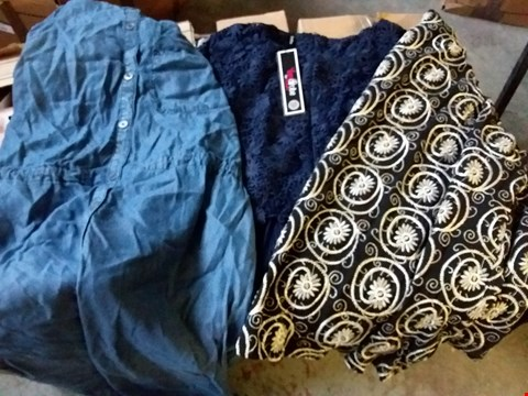 Lot 336 BOX OF APPROXIMATELY 11 ASSORTED LADIES DRESSES - VARIOUS SIZES