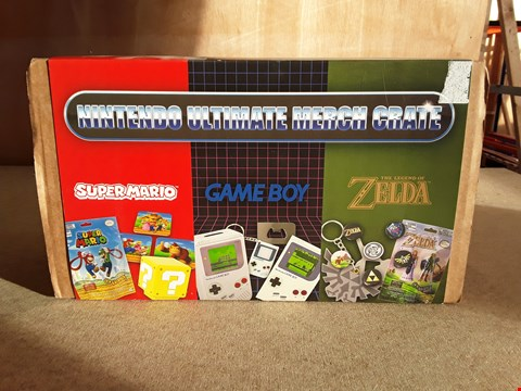Lot 129 BRAND NEW BOXED NINTENDO ULTIMATE MERCH CRATE