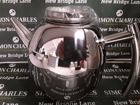 Lot 5170 BOXED STAINLESS STEEL TEAPOT WITH INFUSER
