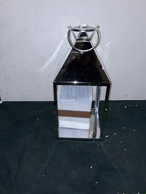 Lot 264 ALISON CORK STAINLESS STEEL LANTERN WITH LED CANDLE