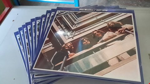 Lot 9024 LOT OF 10 'THE BEATLES/1967-70 THE BLUE ALBUM' VINYL RECORDS