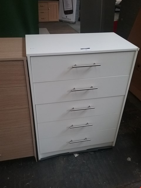 Lot 17 LAVANT OAK 5 DRAWER CHEST RRP £100